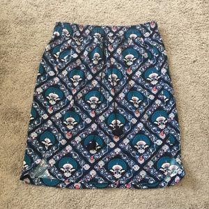 LOFT Floral Pattern Skirt sz Small Petite BNWT